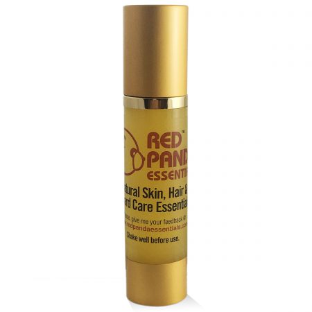 Natural Skin, Beard, and Hair Care for Men - gold-bottle-1-rev